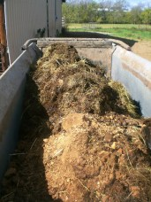 Manure in the wagon