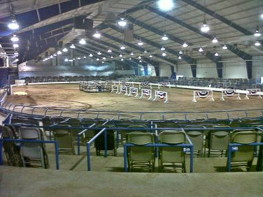 Empty cattle show ring