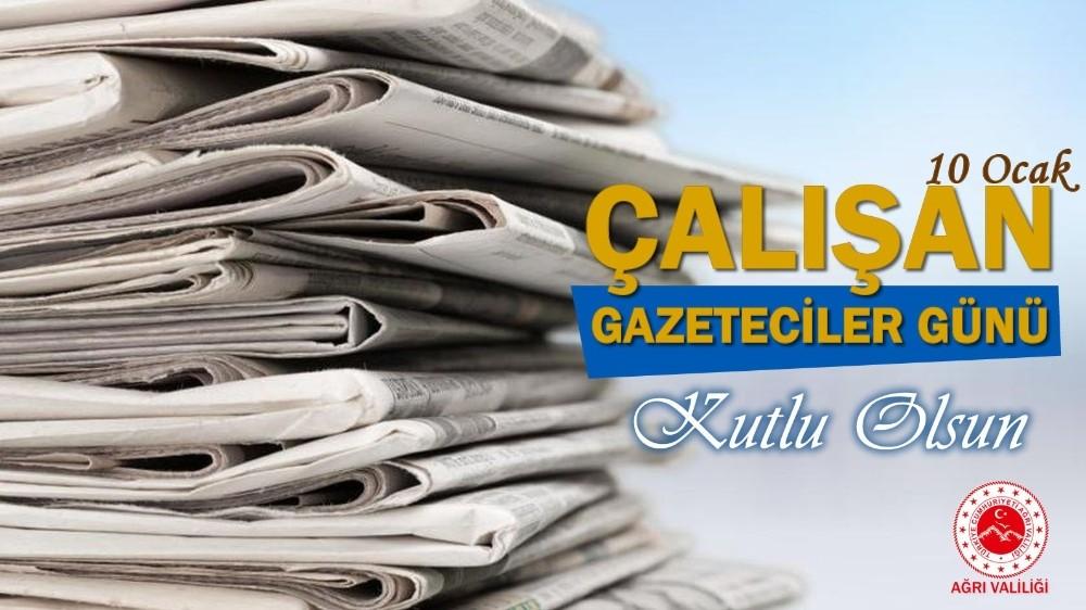 Vali Varol'dan Gazeteciler Günü Mesajı