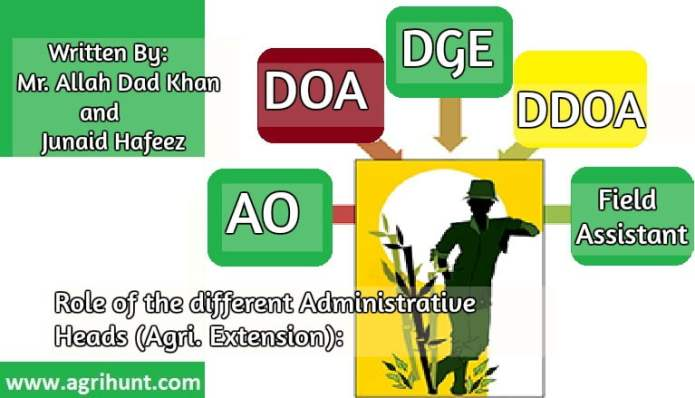 Role of the different Administrative Heads (Agri. Extension): In Planning and Coordinating  Resources  and  Delegations.