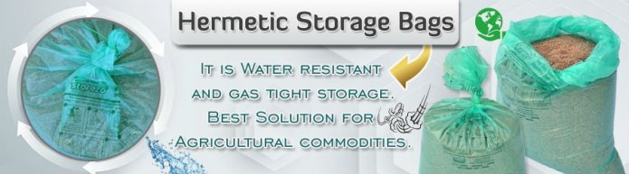 Hermetic storage: a novel solution to reduce the post harvest-storage