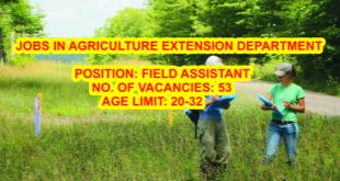 FIELD-ASSISTANT-JOB-IN-AGRICULTURE-DEPARTMENT