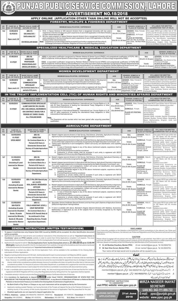 Jobs-in-Punjab-Public-Service-Commission-PPSC-2018