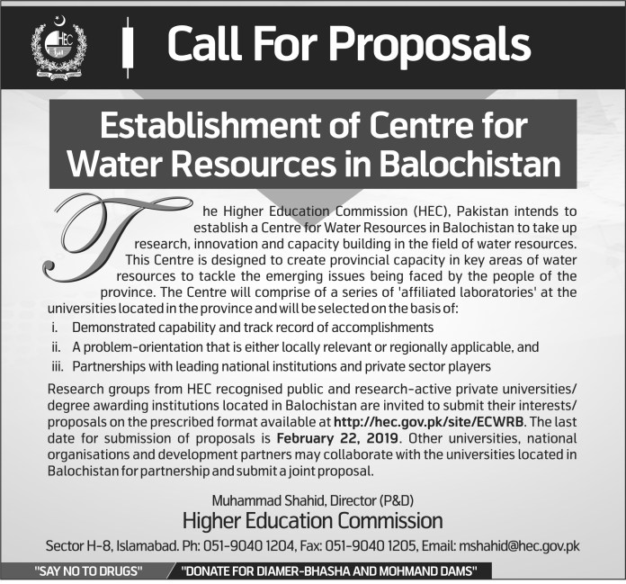 Call-for-Proposals-for-Establishment-of-Center-for-Water-Resources-in-Balochistan-by-saad-ur-rehman-malik
