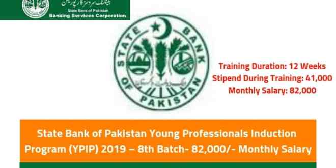 State Bank of Pakistan Young Professionals Induction Program (YPIP) 2019 – 8th Batch- 82,000/- Monthly Salary-by-saad-ur-rehman-malik
