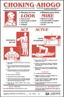 choking poster agrilife extension