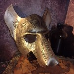 Golden Wolf Mask
