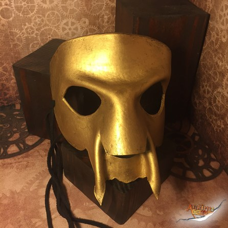 Gold demon Leather Mask