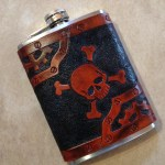 Crossbones Pirate Flask