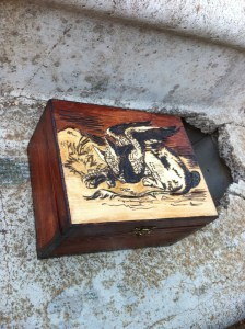 Pyrography Box Griffin