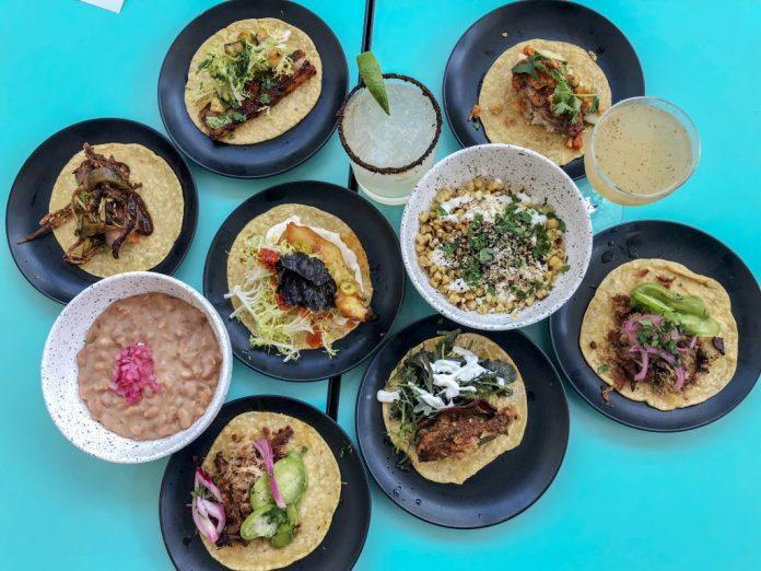 Tacos at LOLA 55, San Diego, California, USA