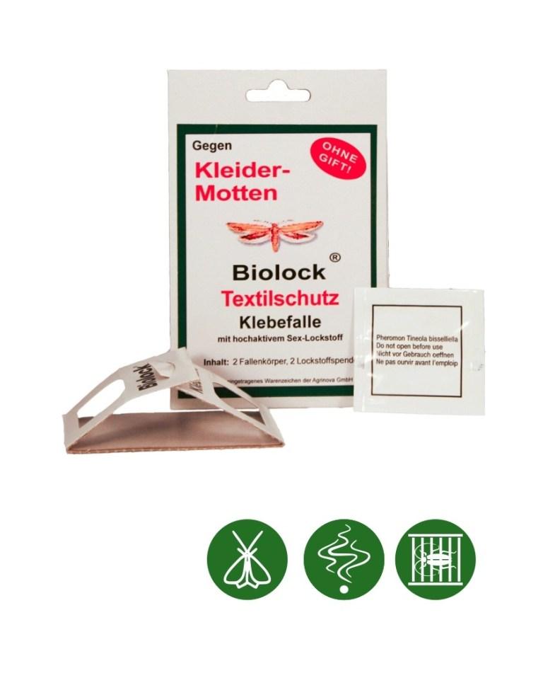 Biolock® Kleidermottenfalle 2 Fallen + 2 Lockstoffe/Set