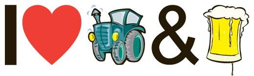 I love tractors & bier