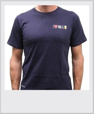 T-shirt-blauw-I-love-tractors-bier-vrijstaand
