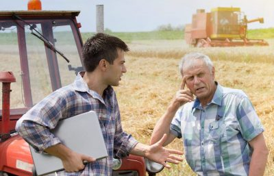 Young Old Farmer Cropped