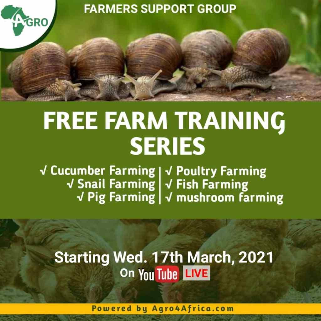 Agro4africa farmers training series