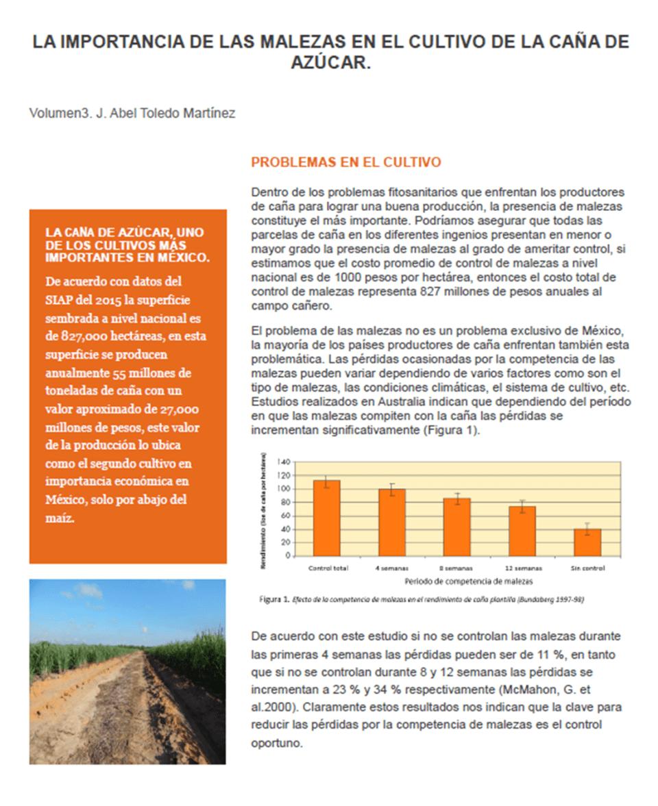 ARTICULO 3 AGROBIEN MALEZAS EN CAÑA DE AZÚCAR