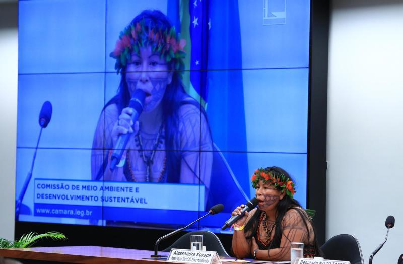 Alessandra Korape denunciou agressões ao ecossistema do rio Tapajós