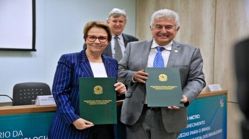 ministra tereza cristina ministro marcos pontes _ guuilherme martimon mapa