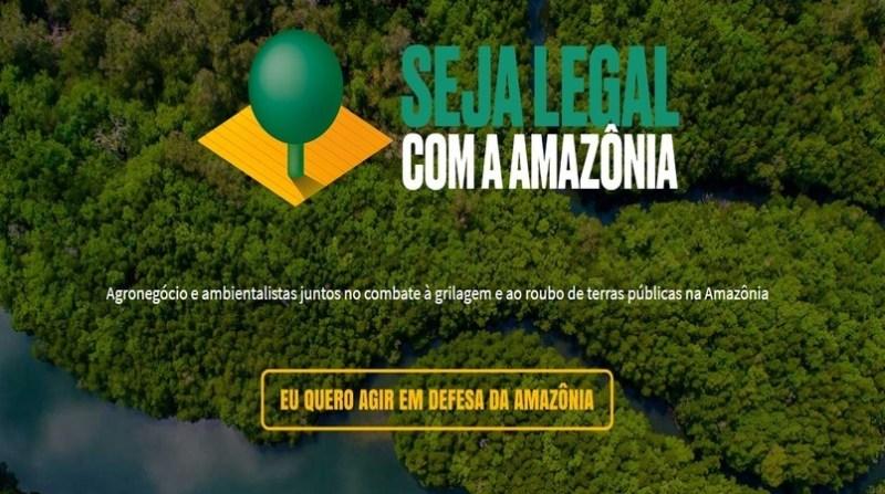 campanha seja legal com a amazonia print screen