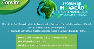 Oeste baiano recebe Fórum de Inovação e Sustentabilidade para a Competitividade