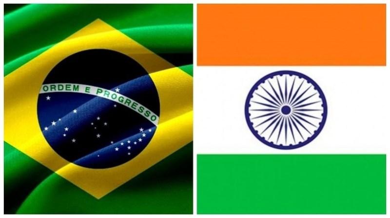 montagem bandeira brasil india