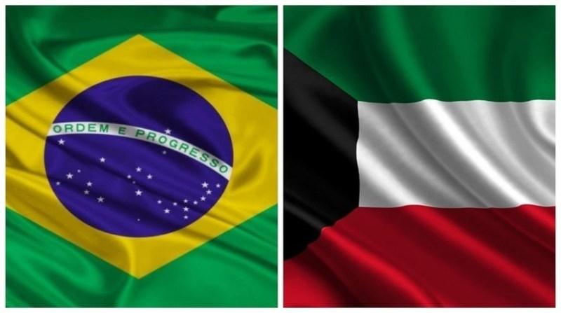 montagem bandeiras brasil kuwait