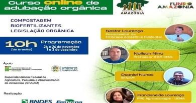 Embrapa anuncia curso virtual sobre adubação orgânica