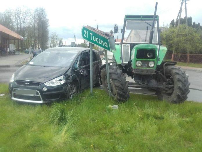 Pijany traktorzysta z zakazem uderzył w Forda