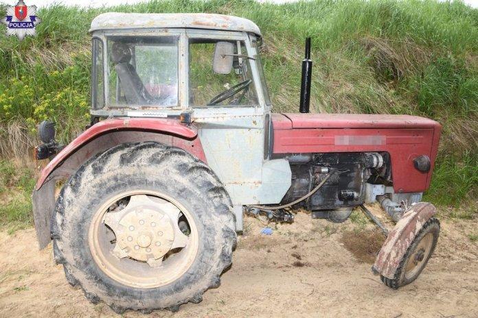 70-latek przygnieciony przez ciągnik rolniczy. Zmarł na miejscu