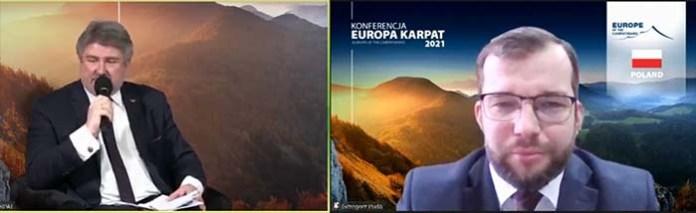 "Minister Grzegorz Puda na konferencji ""Europa Karpat"""