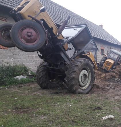 ciągnik, wypadek rolnika, wypadki na wsi
