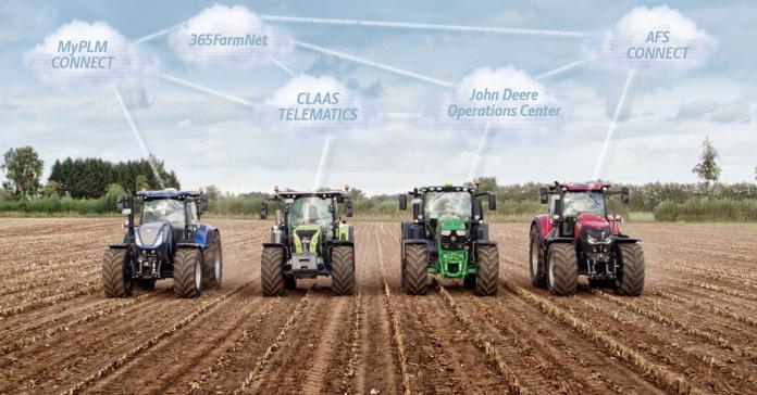 DataConnect, Claas,365FarmNet, CNH Industrial,John Deere.