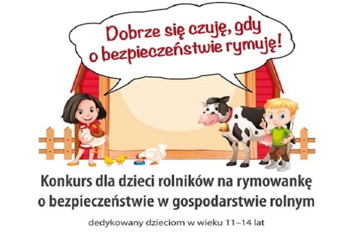 II Ogólnopolski Konkurs dla Dzieci na Rymowankę o Bezpieczeństwie w Gospodarstwie Rolnym rozstrzygnięty!