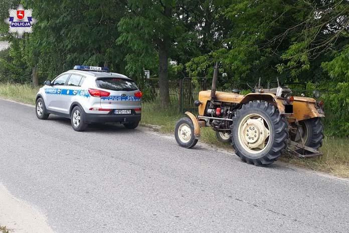 ciągnik, pijany rolnik, pijany traktorzysta, Sosnówka