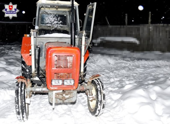 Szarżowanie ciągnikiem po śniegu skończyło się w szpitalu