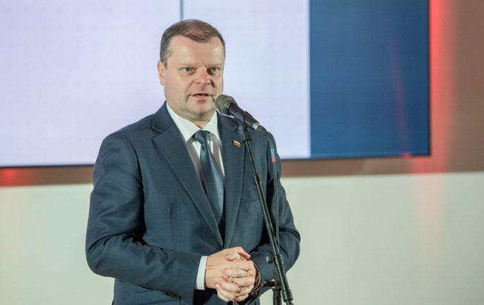 Saulius Skvernelis, premier Litwy, ASF, rolnik, import wieprzowiny z Litwy, protest rolników, import wieprzowiny, Litwa