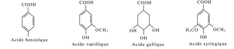 Figure 1 : Exemple de quelques acides phénols de la série benzoïque.