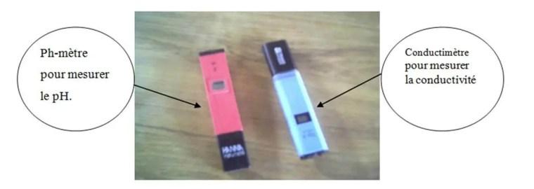 Photo N°2 : pH-mètre et conductimètre.