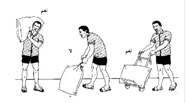 إن التعامل مع الأسمدة بطريقة صحيحة يقلل من خطر تلف الأكياس وحدوث الخسائر ويقلل من الفاقد منها