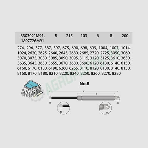 Massey Ferguson,LANDINI- 1897726M91, 3301617M91, 3303021M91, 3476251M1, 83949895 2