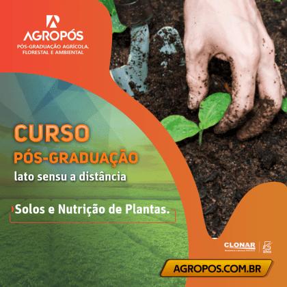 Pós graduação em solos e nutrição de plantas