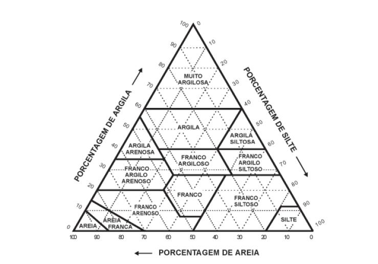 Característica do solo arenoso