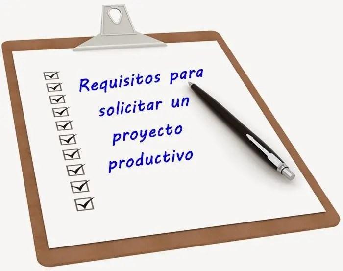 requisitos para proyectos productivos