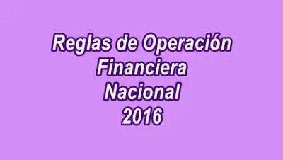 Programas de apoyo Financiera Nacional 2016