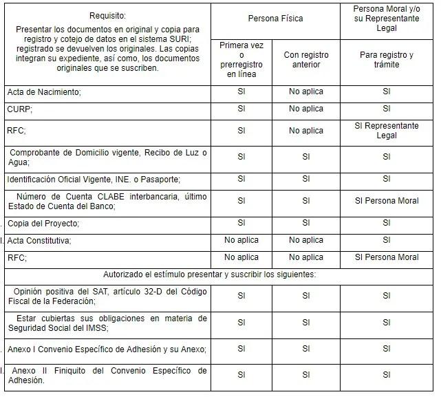 Requisitos concurrencia 2019