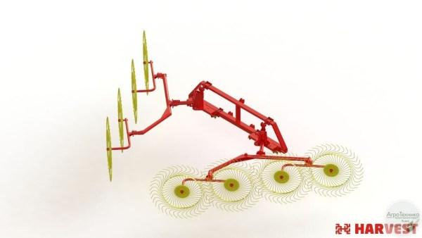 Навесные колесно-пальцевые грабли ГКП 5,4Н