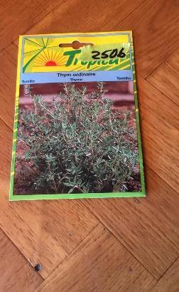 Semillas plantas aromáticas