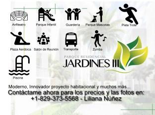 Parque JARDINES III apartamentos de 1 hab.
