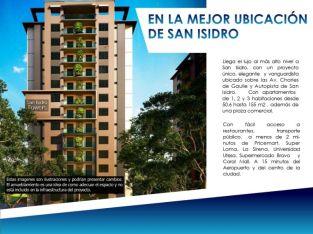 Apto de 1 cuarto en Torre en Aut San Isidro